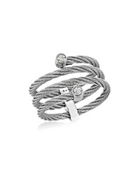 Alor Gray Diamond Cable Ring