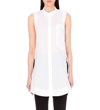 Whistles Melissa Sleeveless Cotton Shirt White