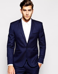 Vito Suit Jacket In Slim Fit Navy