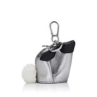 Loewe Bunny Leather Coin Purse Key Chain Silver
