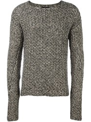 Lost And Found Ria Dunn Textured Jumper Grey