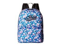 Vans Realm Backpack Blurred Floral Poseidon True White Backpack Bags Blurred Floral Poseidon True White