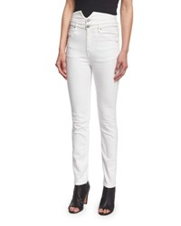 Etoile Isabel Marant Earley Slim Leg High Waist Jeans White