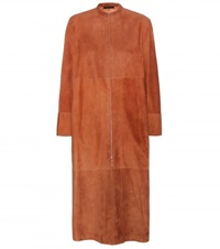 The Row Luri Suede Coat Brown