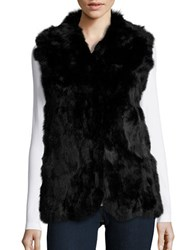 Adrienne Landau Rabbit Fur Vest Black