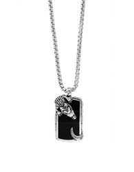 Effy Eclipse Onyx And Sterling Silver Crocodile Necklace