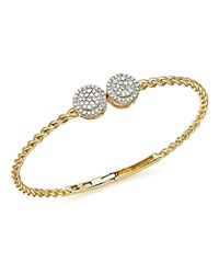 Bloomingdale's Diamond Cluster Twisted Bangle In 14K Yellow Gold .60 Ct. T.W. 100 Exclusive White Gold