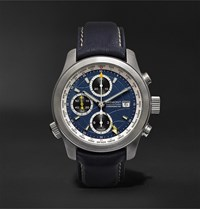 Bremont Alt1 Wt Bl World Timer Automatic Chronograph 43Mm Stainless Steel And Leather Watch Blue