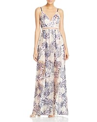 Aqua X Maddie And Tae Embroidered Beaded Maxi Dress 100 Bloomingdale's Exclusive Navy Blush