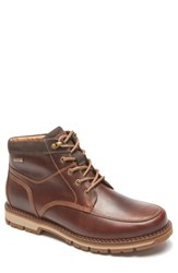 Rockport Men's Centry Moc Toe Boot Brown Leather