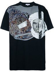 Les Benjamins Leopard Print T Shirt Men Cotton Spandex Elastane Xl Black