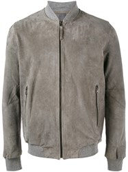 Lot 78 Lot78 Classic Bomber Jacket Grey
