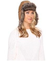 Ugg Toscana Long Pile Trapper Chestnut Multi Cold Weather Hats Tan