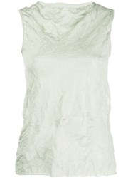 Theory Crinkle Effect Tank Top Green