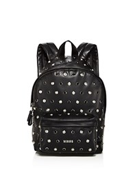 Versus By Versace Studded Small Leather Backpack Black Silver