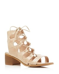 Catherine Malandrino Adelaide Lace Up Sandals Compare At 74 Beige