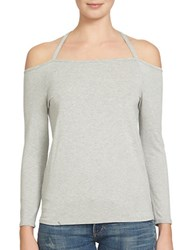 1.State Off The Shoulder Long Sleeve Party Top Swan Heather