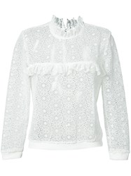 Anine Bing Lace Sweatshirt Women Polyester Xs White