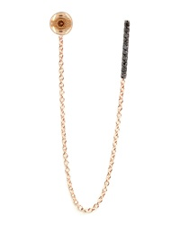 Lumiere Black Diamond Stud And Chain Earring Kismet By Milka