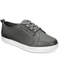 Nautica Women's Lubec Lace Up Sneakers Women's Shoes Gray