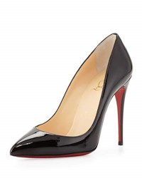 Christian Louboutin Pigalle Follies Point Toe Red Sole Pump Black
