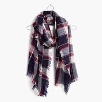 Madewell Rangeplaid Scarf Dark Midnight