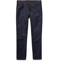 Nudie Jeans Lean Dean Slim Fit Dry Organic Denim Dark Denim