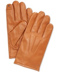 Club Room Gloves Leather Touchscreen British Tan