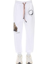 Ihs Printed Cotton Sweatpants White