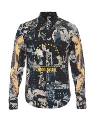 Hood By Air Graphic Print Cotton Poplin Shirt