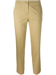 Etro Cropped Trousers Nude And Neutrals