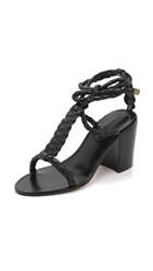 Zimmermann Link Weave Tie Heel Sandals Black