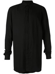 Julius Long Oversized Shirt Black