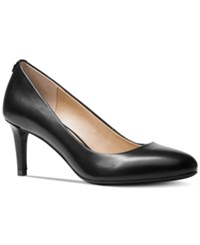 Michael Kors Jenna Flex Round Toe Pumps Women's Shoes Black