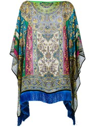Etro Floral Border Batwing Tunic Green