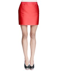 Lanvin Duchess Satin Mini Skirt Red Size 34