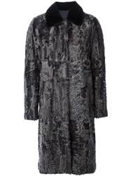 Giambattista Valli Karakul Overcoat Grey