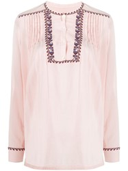 Closed Embroidered Pleat Blouse 60
