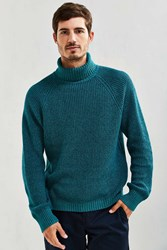 Urban Outfitters Uo Cotton Turtleneck Sweater Green