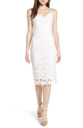 Soprano Backless Lace Midi Dress White