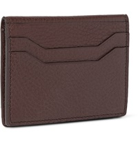 Tom Ford Bifold Grained Leather Cardholder Brown