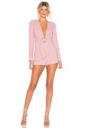 By The Way Brianna O Ring Belted Romper Mauve