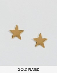 Ottoman Hands Signs And Symbols Star Stud Earrings Gold