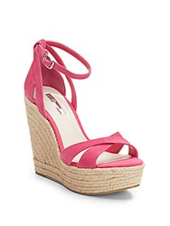 Bcbgeneration Holly Suede Espadrille Wedge Sandals Pink