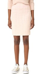 Wgaca Textured Chanel Skirt Previously Owned Pink