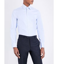 Gieves And Hawkes Tailored Fit Cotton Shirt Lt Blue