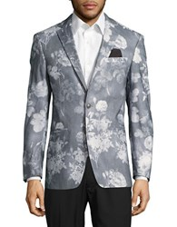 Tallia Orange Floral Print Sportcoat Grey