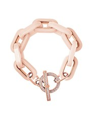 Michael Michael Kors Pave Chain Link Toggle Bracelet Rose Gold