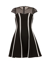 Morgan Contrasting Paneled Dress Black