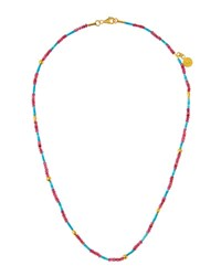 Gurhan Delicate Hue 24K Red Spinel And Turquoise Beaded Necklace